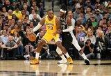 """L.Jameso šou paskutiniame kėlinyje lėmė """"Lakers"""" pergalę"""
