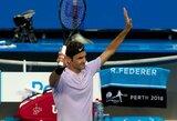Šveicarijos rinktinė su R.Federeriu priešakyje rekordinio žiūrimumo akistatoje įveikė rusus