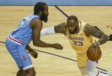 """""""Lakers"""" dar kartą nepaliko vilčių """"Rockets"""" komandai"""