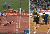"""""""Deimantinė lyga"""": jamaikietis prieš finišą taranavo nugalėjusį rusą, krito Z.Sendriūtės rekordas"""