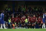 """Anglijoje – """"Chelsea"""" pralaimėjimas ir """"Leicester City"""" lygiosios"""