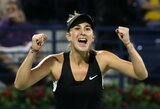 Dar vieną favoritę nugalėjusi B.Benčič po ketverių metų pertraukos laimėjo elitinį WTA turnyrą