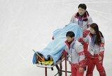 Olimpinį ledą išbandęs Šiaurės Korėjos čiuožėjas išgabentas į ligoninę