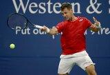 """R.Berankio startas """"US Open"""" turnyre – prastu laiku lietuviams"""