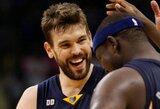 """Ch.Paulas gavo iš kojos į galvą, o """"Clippers"""" nusileido """"Grizzlies"""" komandai (+ kiti rezultatai)"""