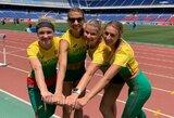 Baltijos šalių istoriją sukūrusios Lietuvos bėgikės pirmą kartą dalyvavo pasaulio estafečių čempionate