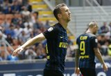 """""""Inter"""" pakilo į antrą """"Serie A"""" vietą"""