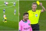 "Rungtynėse su ""Alaves"" susinervinęs L.Messi vos nekliudė teisėjo"