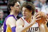 """""""Lakers"""" svečiuose sugebėjo palaužti Portlendo krepšininkus"""