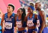 Pasaulio lengvosios atletikos čempionate krito pirmasis planetos rekordas