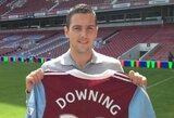 """""""West Ham"""" klubas įsigijo S.Downingą, T.Švedkauskas skolinamas trečiosios Italijos lygos klubui (+ 2 perėjimai)"""
