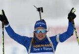 Italijos biatlono gražuolė prestižinėje rungtyje pirmą kartą tapo pasaulio čempione ir sukūrė maksimalią intrigą kovoje dėl pasaulio taurės
