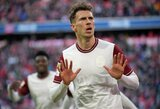 """Antrajame kėlinyje įvarčius mušę """"Bayern"""" iškovojo 17 pergalę Vokietijoje"""