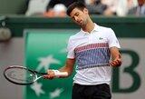 """""""French Open"""" turės naują karalių: """"riestainį"""" gavęs N.Djokovičius išsiųstas namo"""
