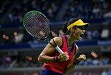 """Merginų pasaka """"US Open"""": tik po kvalifikacijos į pagrindinį turnyrą patekusi 18-metė E.Raducanu finale susikaus su 19-mete Kanados talente"""