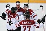 Latvijos ledo ritulininkus nuo vietos olimpiadoje skiria viena pergalė