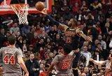 """Istorinį L.Jameso pasiekimą apkartino ilgiausia """"Cavaliers"""" pralaimėjimų serija"""