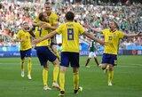 Antrajame kėlinyje įvarčiais pratrūkusi Švedija sutriuškino Meksiką