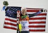 Jaunoji JAV kalnų slidinėjimo žvaigždė M.Shiffrin pirmą kartą tapo olimpine čempione