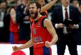 """Eurolygos ketvirtfinalis: CSKA antroje rungtynių dalyje nepaliko šansų """"Baskonia"""""""