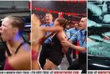 """Buvusi UFC čempionė šėlsta WWE: R.Rousey buvo """"areštuota"""" ir išdaužė policijos automobilio langus"""