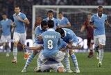 "Aistrų kupiname Romos derbyje pergalę iškovojo ""Lazio"""