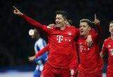 """Antrajame kėlinyje įvarčiais prapliupę """"Bayern"""" sutriuškino """"Hertha"""""""