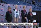 Mergina sukūrė istoriją: ant imtynių kilimo nugalėjo visus vaikinus ir tapo čempione