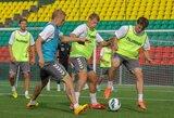 Lietuvos futbolo rinktinė pradėjo pasirengimą rungtynėms su Graikija