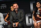 """De La Hoya: """"F.Mayweatherio reklamos taktika kenkia boksui"""""""