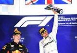 "Singapūre – L.Hamiltono pergalė ir brangiai kainavusi ""Ferrari"" rizika"