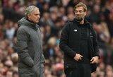 """J.Kloppas nejaučia spaudimo laimėti titulus: """"Nedažnai pavyksta priversti J.Mourinho nusišypsoti"""""""