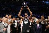 """""""Visų žvaigždžių"""" mačas: dominavęs europietis, MVP tapęs K.Durantas ir tritaškių rekordas"""