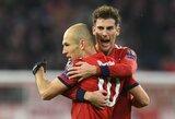 """Čempionų lyga: A.Robbeno ir R.Lewandowskio vedami """"Bayern"""" pervažiavo portugalus"""