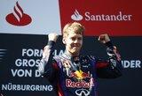 Vokietijos GP lenktynėse pergalę iškovojo S.Vettelis