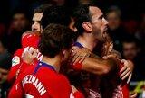 """""""Atletico"""" iškovojo užtikrintą pergalę ir """"La Ligoje"""" pakilo į pirmąją turnyrinės lentelės vietą"""