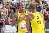 A.Rumševičius ir L.Každailis po įtemptos kovos pralaimėjo olimpinio prizininko vedamiems latviams