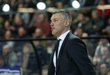 """Š.Jasikevičius džiaugėsi, kad LKL rungtynėse """"Žalgiriui"""" pavyko pademonstruoti Eurolygos lygį"""