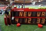 """Pamatykite: """"Deimantinėje lygoje"""" pagerintas 23 metus gyvavęs pasaulio rekordas, Barbadoso atstovas be reikalo apibėgo visą ratą"""