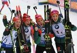 Puikus šaudymas padėjo Lietuvos moterų biatlono rinktinei pasaulio taurėje užimti 18-ą vietą