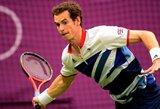A.Murray'us užtikrintai žengė į antrąjį Olimpinio teniso turnyro ratą