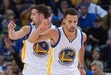 """Buvęs """"Warriors"""" treneris: nuolat tritaškius mėtantis Curry kenkia žaidimui"""
