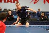Lietuvos vyrų stalo teniso rinktinę ketvirtfinalyje sustabdė danai