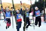 Norvegės vėl laimėjo pasaulio biatlono taurės estafetę, trys seserys vedė šveicares link bronzos