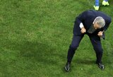 Įvartį švęsdamas Brazilijos rinktinės treneris Tite patyrė traumą