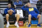 """""""Warriors"""" naujienos: K.Durantas trečiąsias rungtynes praleis, abejojama dėl K.Thompsono žaidimo"""