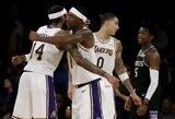 """""""Lakers"""" iškovojo pirmąją pergalę be L.Jameso"""