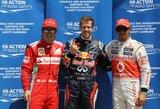 """S.Vettelis ir L.Hamiltonas: """"F.Alonso žaidžia psichologinius žaidimus"""""""