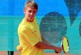 M.Bugailiškis galingai pradėjo jaunių teniso turnyro Slovakijoje vienetų varžybas