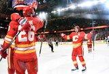 """""""Flames"""" toliau skina pergales ir braunasi į NHL viršūnę"""